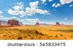 desert  red sandstone mountains ... | Shutterstock . vector #565833475