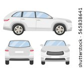 car vector template on white... | Shutterstock .eps vector #565838641
