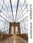 brooklyn bridge  nobody  new... | Shutterstock . vector #565839175