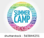 summer camp word cloud ... | Shutterstock . vector #565844251