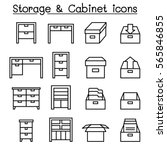 cabinet  drawer  table  ... | Shutterstock .eps vector #565846855