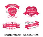happy valentines day... | Shutterstock .eps vector #565850725