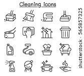 cleaning   hygiene icon set in...