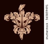 vintage baroque ornament retro... | Shutterstock .eps vector #565859491