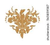 vintage baroque ornament retro... | Shutterstock .eps vector #565859587