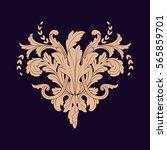 vintage baroque ornament retro... | Shutterstock .eps vector #565859701