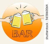 bar beer glasses shows public... | Shutterstock . vector #565860064