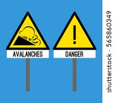 road signs danger and... | Shutterstock .eps vector #565860349