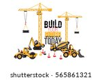 construction machinery... | Shutterstock .eps vector #565861321