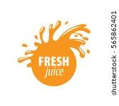 juice splash vector sign | Shutterstock .eps vector #565862401