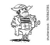 funny pirate captain  cartoon...   Shutterstock .eps vector #565862581