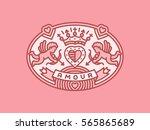amour   heraldry emblem ... | Shutterstock .eps vector #565865689