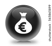 money bag icon. euro eur...