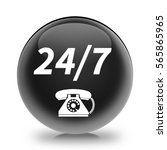 24 7 support phone icon.... | Shutterstock . vector #565865965
