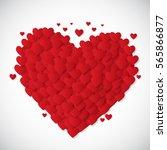 valentine's day heart symbol.... | Shutterstock . vector #565866877