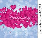 valentine's day heart symbol.... | Shutterstock . vector #565867651