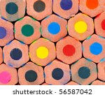 colorful pencils against white | Shutterstock . vector #56587042