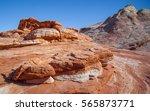 Nevada Desert At Valley Of Fir...