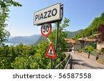 Piazzo village at the famous Italian lake Como - stock photo