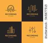 simple vector icon style music... | Shutterstock .eps vector #565877515