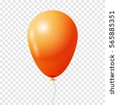 balloon. transparent isolated... | Shutterstock .eps vector #565885351