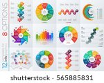 collection of 12 vector... | Shutterstock .eps vector #565885831