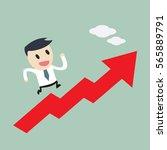 businessman on growth chart ...   Shutterstock .eps vector #565889791