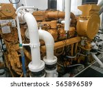 inland ship engine  | Shutterstock . vector #565896589