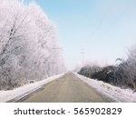 Snowy Landscape And Road