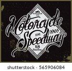 speedway t shirt design | Shutterstock .eps vector #565906084