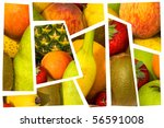 High quality collection of fruits. fresh fruit. part two - stock photo