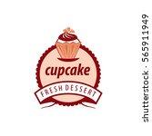 vector logo cupcake  fresh... | Shutterstock .eps vector #565911949