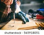 power electric screwdriver.... | Shutterstock . vector #565918051