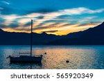 Sailboat In Varenna Esino Lake...