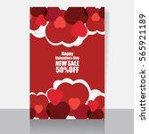 valentine's day card   Shutterstock .eps vector #565921189