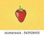 strawberry cartoon. hand drawn  ... | Shutterstock .eps vector #565928455