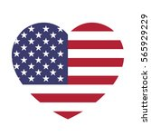 usa flag in the heart. american ... | Shutterstock .eps vector #565929229