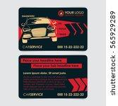auto repair business card...   Shutterstock .eps vector #565929289