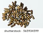 Close Up Of 9 Mm. Bullets On...