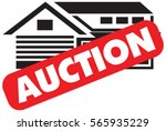 vector auction icon with a red... | Shutterstock .eps vector #565935229