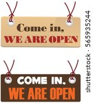 vector banner come in we're... | Shutterstock .eps vector #565935244