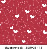 valentine's day pattern with... | Shutterstock .eps vector #565935445