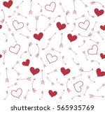 valentines vector pattern of... | Shutterstock .eps vector #565935769