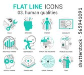 modern thin line icons set of... | Shutterstock .eps vector #565941091