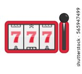slot machine with lucky sevens... | Shutterstock .eps vector #565947499