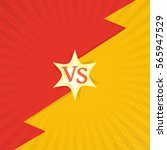 versus letters fight... | Shutterstock .eps vector #565947529