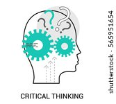 symbol of critical thinking.... | Shutterstock .eps vector #565951654