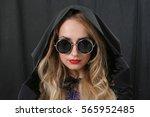 portrait of a beautiful girl... | Shutterstock . vector #565952485