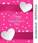 happy valentine s day card.   Shutterstock .eps vector #565953121