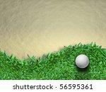 white golf ball on green grass...   Shutterstock . vector #56595361